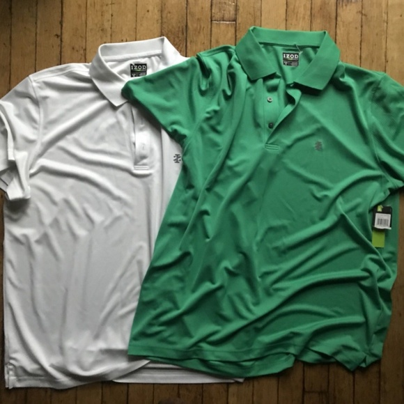Izod Other - Izod Golf Men's Green and White Polo XL Lot of Two